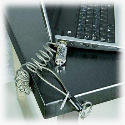 Замок кодовый Kensington для нетбука, витой трос (K64588EU)Замок безопасности для ноутбука Kensington<br>Подсоединяется к разъему безопасности Kensington, которым оснащены нетбуки, тонкий замок slim-profile, кабель до 15 см<br>
