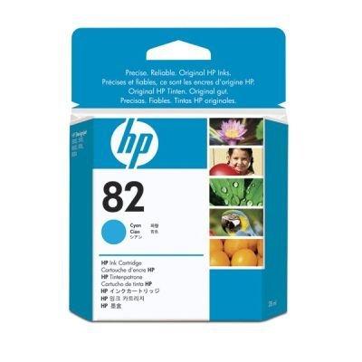 Картридж HP № 82 (CH566A) голубой (CH566A)Картриджи для струйных аппаратов HP<br>28мл<br>
