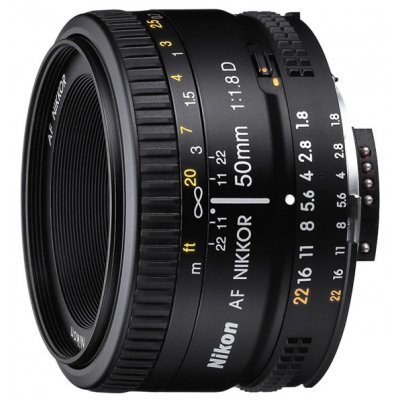 Объектив Nikon 50mm f/1.8D AF Nikkor (JAA013DA)Объективы для фотоаппарата Nikon<br>стандартный объектив с постоянным ФР<br><br>крепление Nikon F, без встроенного мотора<br>автоматическая фокусировка<br>минимальное расстояние фокусировки 0.45 м<br>размеры (DхL): 63.5x39 мм<br>вес: 155 г<br>