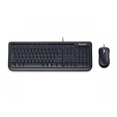 Комплект Microsoft Wired Desktop 600 (APB-00011)Комплекты клавиатура мышь Microsoft<br>мышь+клавиатура, USB,  чёрный, 104 стандартные клавиши, 5 дополнительных клавиш быстрого доступа к мультимедийным функциям, калькулятору, клавиша «Start». Мышь: 2 клавиши, колесо прокрутки<br>