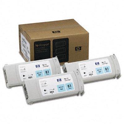 Картриджи HP No 81 светло-голубые 3штуки Multipack для DesignJet 5000/5500 680мл (C5070A)Картриджи для струйных аппаратов HP<br>(Описание)<br>