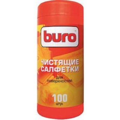 Туба с чистящими салфетками BURO, для поверхностей, 100 шт (BU-Tsurface)Чистящие средства для дисплеев Buro<br><br>