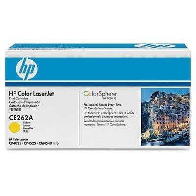 Картридж HP (CE262A)  желтый (CE262A)Тонер-картриджи для лазерных аппаратов HP<br>Картридж HP (CE262A) для Color LaserJet CP4525<br>