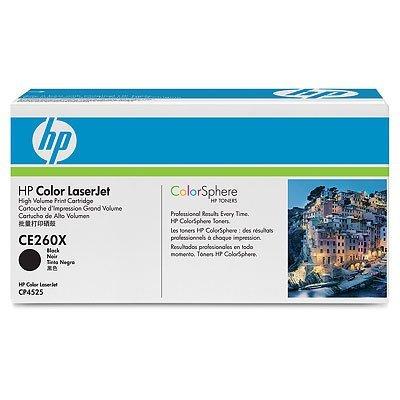 Картридж HP (CE260X) черный (CE260X)Тонер-картриджи для лазерных аппаратов HP<br>для Color LaserJet CP4525<br>