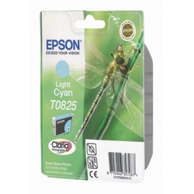 Картридж (C13T11254A10) EPSON T0825 для Stylus Photo R270/R290/RX590 Light Cyan (C13T11254A10)Картриджи для струйных аппаратов Epson<br>Stylus Photo R270/R290/RX590<br>