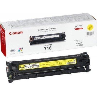 Картридж (1977B002) Canon 716 Y (1977B002)Тонер-картриджи для лазерных аппаратов Canon<br>(Описание)<br>