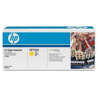 Картридж HP (CE742A) для Color LaserJet CP5220 желтый (CE742A)Тонер-картриджи для лазерных аппаратов HP<br>для CP5220 7300 копий<br>