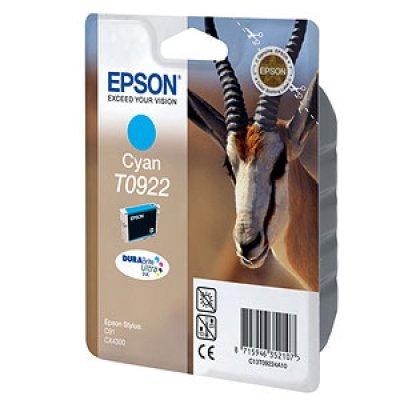 Картридж (C13T10824A10) EPSON T0922 для C91/CX4300 голубой (C13T10824A10)Картриджи для струйных аппаратов Epson<br>Емкость: 5,5 мл<br>