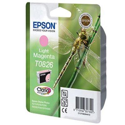 Картридж (C13T11264A10) EPSON T0826 для Stylus Photo R270/R290/RX590 светло пурпурный (C13T11264A10)Картриджи для струйных аппаратов Epson<br>tylus Photo R270/R290/RX590<br>