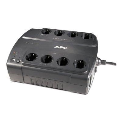 Источник бесперебойного питания APC Power-Saving Back-UPS ES 8 Outlet 550VA 230V CEE 7/7 (BE550G-RS)Источники бесперебойного питания APC<br>550VA/330W, 230V, 8 Russian outlets (4 Surge &amp;amp; 4 batt.), Data/DSL protection, USB, user repl. batt., 3 y.warr. (renewal BE550-RS)<br>