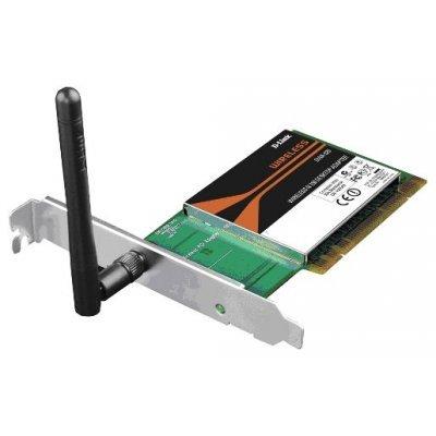 Wi-Fi адаптер D-Link DWA-525 PCI (DWA-525)Адаптеры Wi-Fi D-Link<br>802.11n, частота 2.4 ГГц<br>