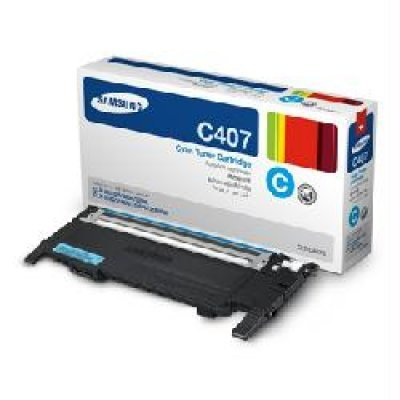 Тонер-Картридж голубой Samsung CLT-C407S для CLP-325W/CLX-3185 (CLT-C407S/SEE) toner powder and chip for samsung 506 clt 506 for clp 680 clx6260fw clx 6260nd clx 6260nr laser printer hot sale