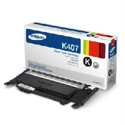 Тонер-Картридж черный Samsung CLT-K407S для CLP-325W/CLX-3185 (CLT-K407S/SEE)Тонер-картриджи для лазерных аппаратов Samsung<br>1500 стр<br>