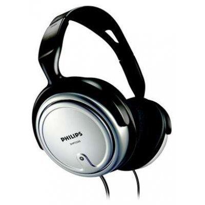 Наушники Philips SHP2500 (SHP2500)Наушники Philips<br>для ТВ и Hi Fi, серебро, адаптер 3,5 на 6,35 мм, удл. 6 м, регулятор громк<br>