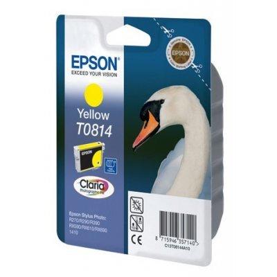 Картридж (C13T08144A) Epson для R270/295/390/RX590/1410 повыш емк желтый (C13T11144A10) картридж epson original t08214a черный для r270 390 rx590 c13t11214a10