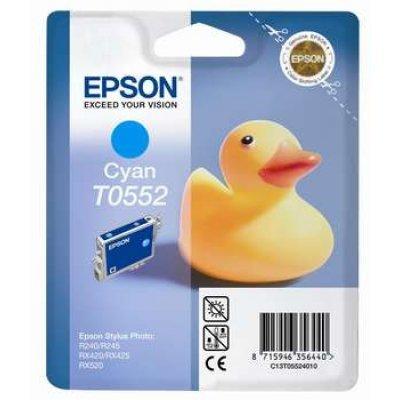 Картридж (C13T05524010) EPSON T0552 для R240/RX520 (Cyan) (C13T05524010)Картриджи для струйных аппаратов Epson<br>для R240/RX520<br>