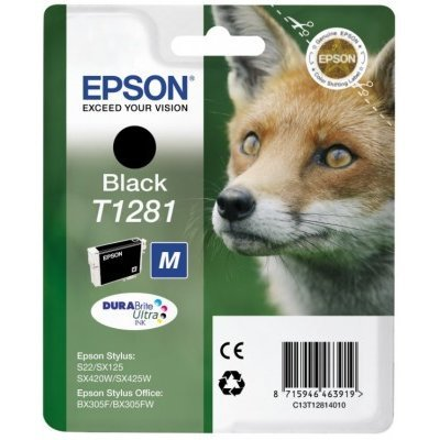 Картридж (C13T12814010) Epson черный (C13T12814010) картридж colouring cg 1282 cyan для epson s22 sx125 sx130 sx420w sx425w office bx305f bx305fw