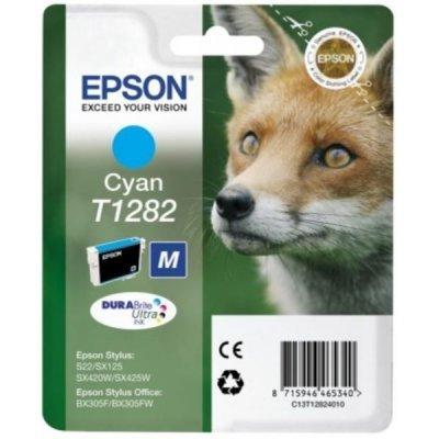 Картридж (C13T12824010) Epson синий (C13T12824010)Картриджи для струйных аппаратов Epson<br>для Stylus S22/SX125/SX420W/SX425W/BX305F<br>