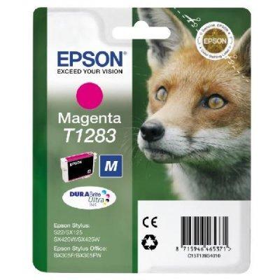 Картридж (C13T12834010( Epson пурпурный (C13T12834010) картридж colouring cg 1282 cyan для epson s22 sx125 sx130 sx420w sx425w office bx305f bx305fw