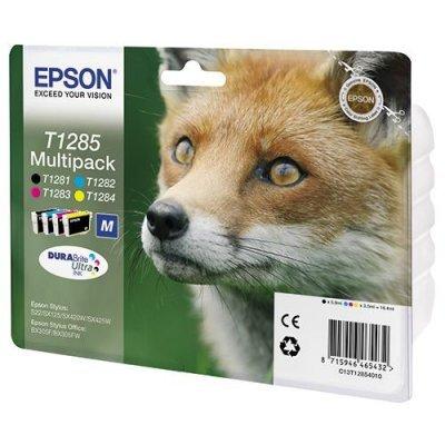 Картридж (C13T12854010) Epson MultiPack (B,C,M,Y) (C13T12854010) картридж colouring cg 1282 cyan для epson s22 sx125 sx130 sx420w sx425w office bx305f bx305fw