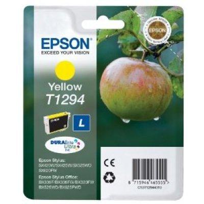 Картридж (C13T12944010) Epson желтый (C13T12944010) картридж colouring cg 1282 cyan для epson s22 sx125 sx130 sx420w sx425w office bx305f bx305fw