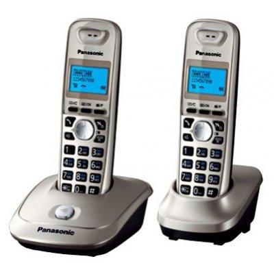 Радиотелефон Panasonic KX-TG2512 платиновый (KX-TG2512RUN) радиотелефон dect panasonic kx tg8551rub черный аон