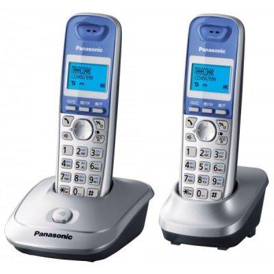 Радиотелефон Panasonic KX-TG2512 серебристый (KX-TG2512RUS) радиотелефон dect panasonic kx tg6722rub черный