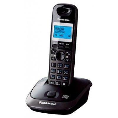 Радиотелефон Panasonic KX-TG2521 тёмно-серый (KX-TG2521RUT)Радиотелефоны Panasonic<br>DECT, АОН, а/о 20 мин., дисплей, подсветка дисплея,часы, 50 ном., полифония, спикерфон (тёмно-серый)<br>