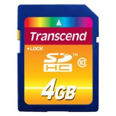 Карта памяти Transcend 4Gb SDHC Class 10 TS4GSDHC10 (TS4GSDHC10) transcend карта памяти 4gb secure digital card class 10 transcend ts4gsdhc10