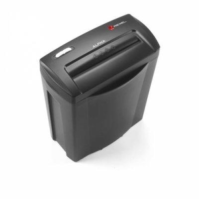 Шредер Rexel Alpha X поперечной резки, для домашнего использования (2102023EU) (2102023EU)Шредеры Rexel<br>Поперечная резка, размер фрагмента 4x38 мм. Мощность резки 6 листов. Объем корзины 14 литров. Вмещает 60 листов. Уничтожает пластиковые карты. Верхняя часть шредера легко снимается для опорожнения корзины. Авто старт/стоп и реверс. Уровень секретности 3. Крышка черного цвета.<br>