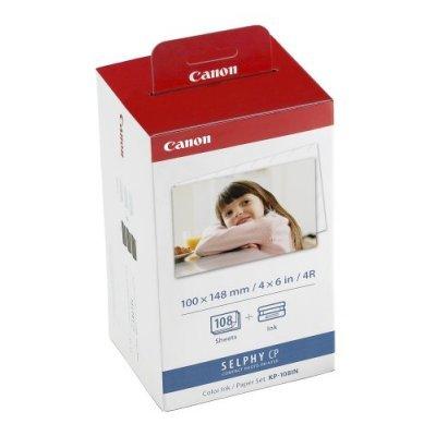 Набор печати Canon (3115B001) KP-108IN для CP-100/200/220/300 (на 108 фото 10х15 см) (3115B001)Картриджи для струйных аппаратов Canon<br>Комплект для печати Canon KP-108IN.<br>