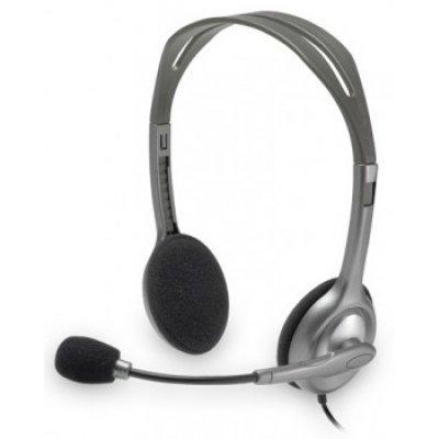 все цены на Компьютерная гарнитура Logitech Stereo Headset H110 (981-000271) онлайн