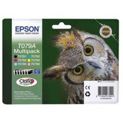 Набор картриджей (C13T079A4A10) Epson MultiPack для Stylus Photo P50/PX660 (C13T079A4A10) картридж epson c13t08044011 c13t08044021 для stylus photo p50 px660 px720wd желтый 330стр