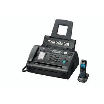 Факс Panasonic KX-FLC418RU темно-серый (KX-FLC418RU)Факсы Panasonic<br>факс/копир с печатью на листах; лазерная печать, до 10 стр./мин; макс. разрешение факса 600x600 dpi; модем 14.4 кбит/с; проводная трубка, беспроводная трубка (DECT);<br>