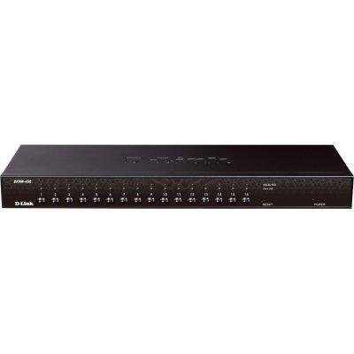 Коммутатор D-Link KVM-450 (KVM-450/E)Коммутаторы D-Link<br>, Stackable rack mount 16-port KVM Switch<br>