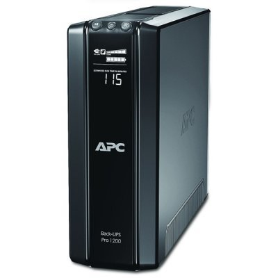 Источник бесперебойного питания APC Power-Saving Back-UPS Pro 1200, 230V (BR1200GI)Источники бесперебойного питания APC<br>1200VA/720W, 230V, AVR, 10xC13 outlets (5 Surge &amp;amp; 5 batt.), Data/DSL protrct, 10/100 Base-T, USB, PCh, user repl. batt., 2 y warr.<br>