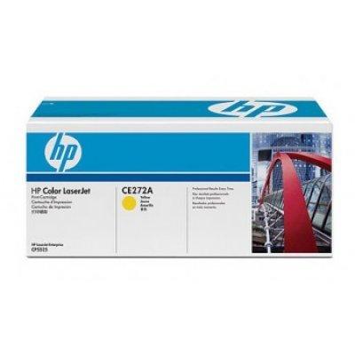 Kартридж HP (CE272A) для LaserJet CP5520 желтый (CE272A)Тонер-картриджи для лазерных аппаратов HP<br>15000 копий, желтый<br>