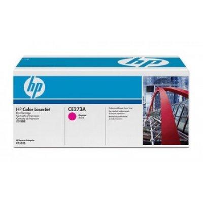 Kартридж HP (CE273A) для LaserJet CP5520 пурпурный (CE273A)Тонер-картриджи для лазерных аппаратов HP<br>15000 копий, пурпурный<br>