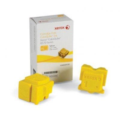 Набор твердочернильных брикетов ColorQube 8570 Желтый 2шт. (4400 отпечатков) (108R00938)Твердочернильные брикет Xerox<br>Для серий: Xerox CQ8570<br>
