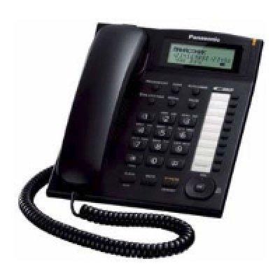 Проводной телефон Panasonic KX-TS2388 черный (KX-TS2388RUB) проводной телефон panasonic kx ts2352rub черный