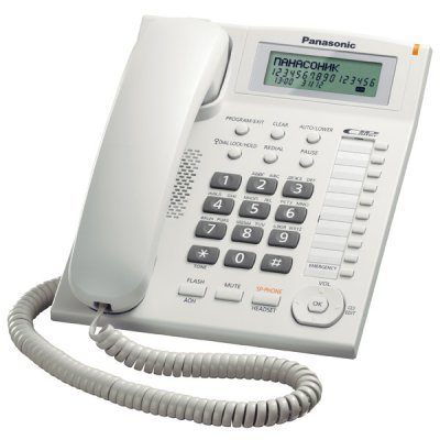 Проводной телефон Panasonic KX-TS2388 белый (KX-TS2388RUW) телефон проводной panasonic kx ts2350ru