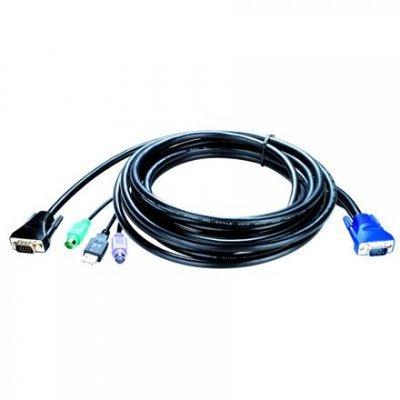 Кабель D-Link KVM-403 (KVM-403)Кабели для проводных сетей D-Link<br>, KVM 4-in-1 cable, 5m<br>