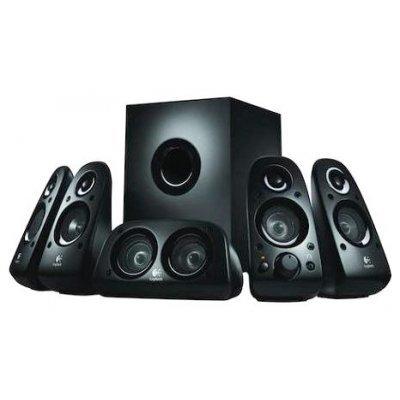 Колонки Logitech Z506 (980-000431)Компьютерная акустика Logitech<br>(Surround Sound), 5.1, 75W(RMS)<br>