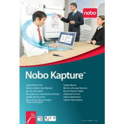 Цифровой блокнот для Nobo Kapture™ (1902592) (1902592)Цифровые блокноты для флипчарта Nobo<br>3 блокнота по 60 листов<br>