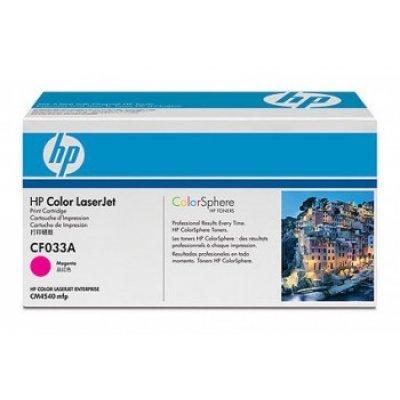 Картридж HP (CF033A) пурпурный для CM4540 (CF033A)Тонер-картриджи для лазерных аппаратов HP<br>12500 страниц, пурпурный<br>