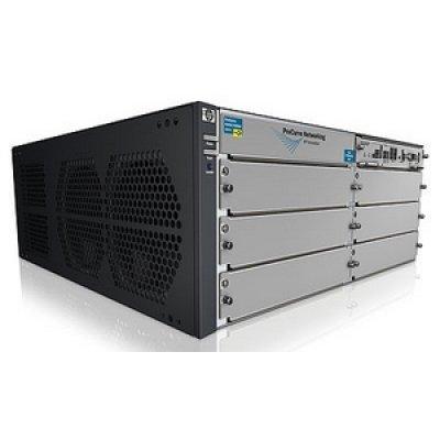 Коммутатор HP E5406 (J9642A) (J9642A)Коммутаторы HP<br>zl with Premium Software, 6 open module slots, HP PCM+, 379.2 Gbps<br>