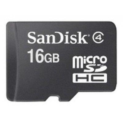 Карта памяти SanDisk 16Gb microSDHC SDSDQM-016G-B35A (SDSDQM-016G-B35A)Карты памяти Sandisk<br>+ adapter  (SDSDQM-016G-B35A)<br>