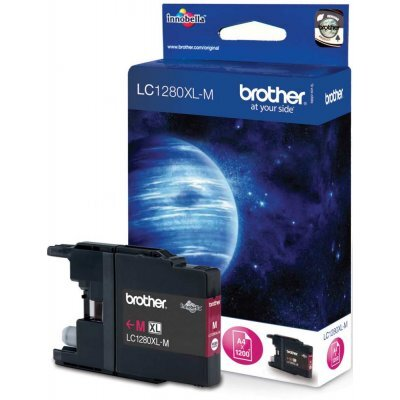 Картридж Brother LC1280XLM пурпурный (LC1280XLM) replacement ink cartridge for brother mfc j6510dw more