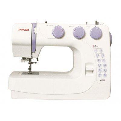 Швейная машина Janome VS56S (VS56S)Швейные машины Janome<br>Электромеханическая швейная машина, 24 операции, автоматическая обработка петель, есть кнопка реверса, отсек для аксессуаров, нитевдеватель.<br>