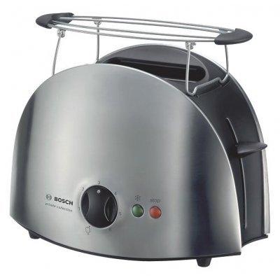 Тостер Bosch TAT6901 (TAT6901)Тостеры Bosch<br>на 2 тоста, мощность 900 Вт, механическое управление, функция размораживания, ненагревающийся корпус, решетка для булочек, металлический прочный корпус<br>